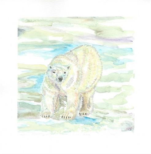 """Polar Bear"" original fine art by Laura Denning"