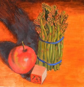 """A is for Apples...and Asparagus"" original fine art by Robert Frankis"