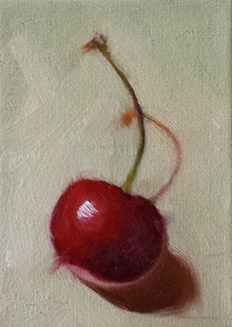 """Cherry and Shadow"" original fine art by Cindy Haase"