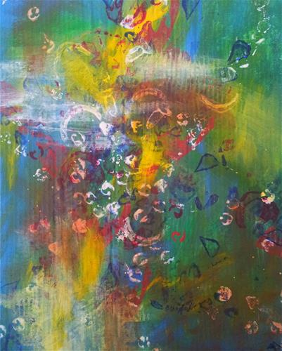 """Bubbles"" original fine art by Becky Chappell"