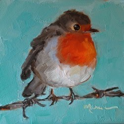 """Just Hanging Out"" original fine art by Marcia Hodges"