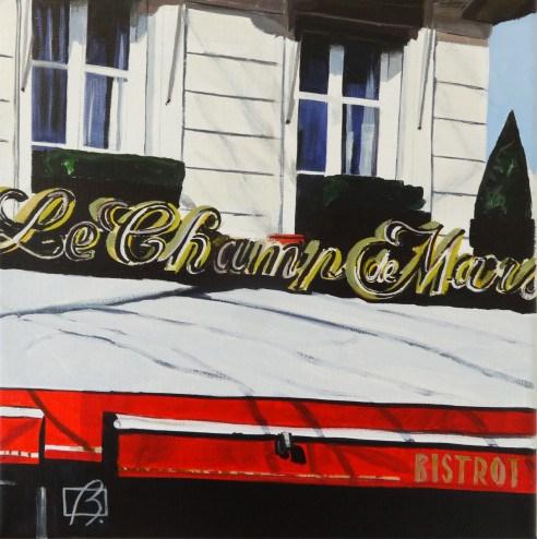 """Le Champ de Mars II"" original fine art by Andre Beaulieu"