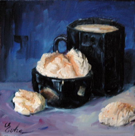 """""""Macarons de Boulay, 2"""" original fine art by Evelyne Heimburger Evhe"""