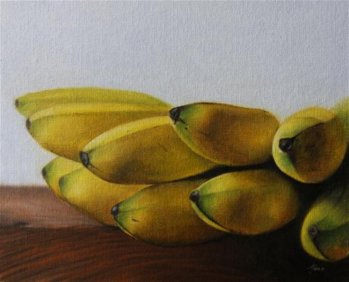 """Lady Finger Bananas"" original fine art by Jonathan Aller"