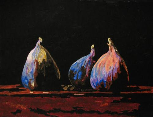 """Three Little Figs"" original fine art by Nan Johnson"
