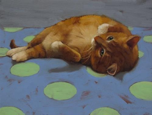 """""""Loafing II"""" original fine art by Diane Hoeptner"""