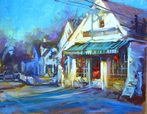 """Hollis General Store"" original fine art by Karen Bruson"