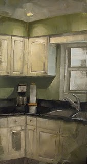 """Coffee Corner (Challenge Painting)"" original fine art by Michael Naples"