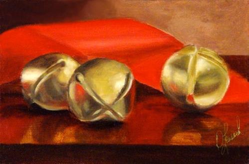 """""""Christmas Bells #814"""" original fine art by Dee Lessard"""