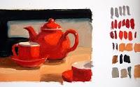 """Seeing Red"" original fine art by Julie Ford Oliver"