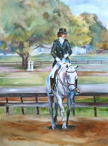 """Equine Ballet"" original fine art by Carol DeMumbrum"