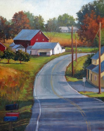"""'Rural Delivery' An Original Oil Painting by Claire Beadon Carnell"" original fine art by Claire Beadon Carnell"