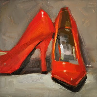 """Killer Heels"" original fine art by Carol Marine"