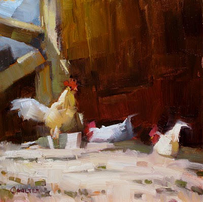 """GHOST CHICKENS"" original fine art by James Coulter"