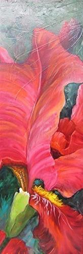"""Rose Colored Iris"" original fine art by Barbara Haviland"