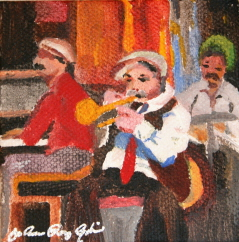 """New Orleans Jazz Band"" original fine art by JoAnne Perez Robinson"