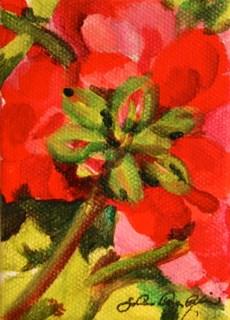 """Geranium Buds"" original fine art by JoAnne Perez Robinson"