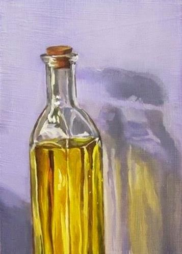 """24 - Yellow Bottle"" original fine art by Ed Watson"