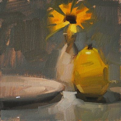 """You Are My Sunshine"" original fine art by Carol Marine"