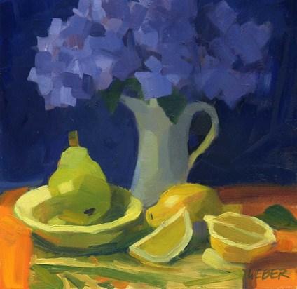 """""""Hydrangea 2"""" original fine art by Kathy Weber"""