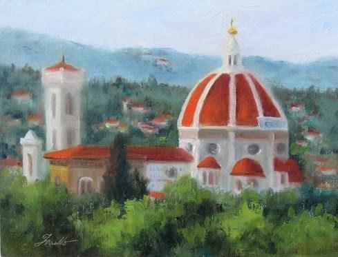 """Florence- Duomo Study"" original fine art by Pat Fiorello"