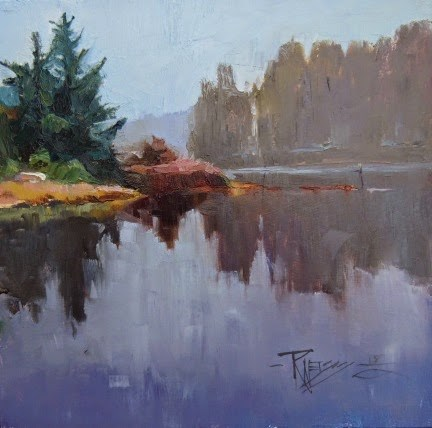 """Eagle Harbor  plein air landscape painting by Robin Weiss"" original fine art by Robin Weiss"