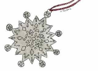"""Silver Star Ornament"" original fine art by Kali Parsons"