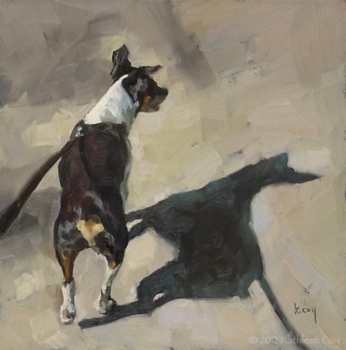 """Shadow Walk 3"" original fine art by Kathleen Coy"