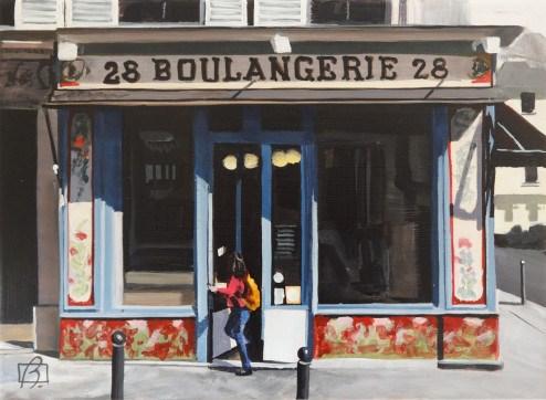 """""""Boulangerie"""" original fine art by Andre Beaulieu"""