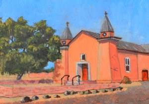 """Old Adobe Church"" original fine art by Robert Frankis"