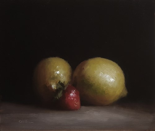 """Lemons and Strawberry"" original fine art by Neil Carroll"