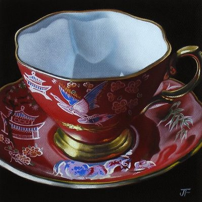 """My Mother's Teacups #1"" original fine art by Jelaine Faunce"