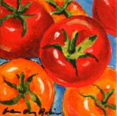 """Sun Kissed Cherry Tomatos"" original fine art by JoAnne Perez Robinson"
