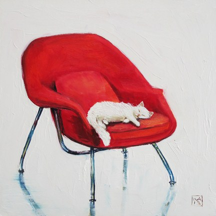 """i sleep therefore i am"" original fine art by Kimberly Applegate"