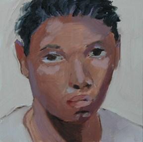 """""""FACE No. 63"""" original fine art by Linda Popple"""