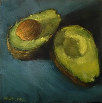 """Split Avocado"" original fine art by Michael Naples"