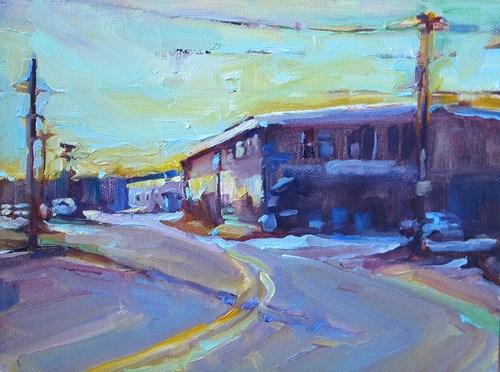 """Double Yellow"" original fine art by Karen Bruson"