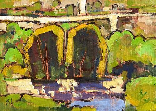 """Balboa Park Landscape"" original fine art by Kevin Inman"