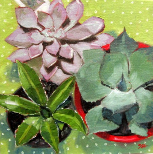 """Succulent #4"" original fine art by Sandy Haynes"