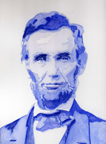 """Abe's Posterized Portrait"" original fine art by Christiane Kingsley"