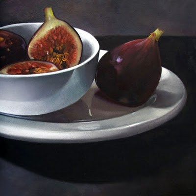 """Figs  6x6"" original fine art by M Collier"