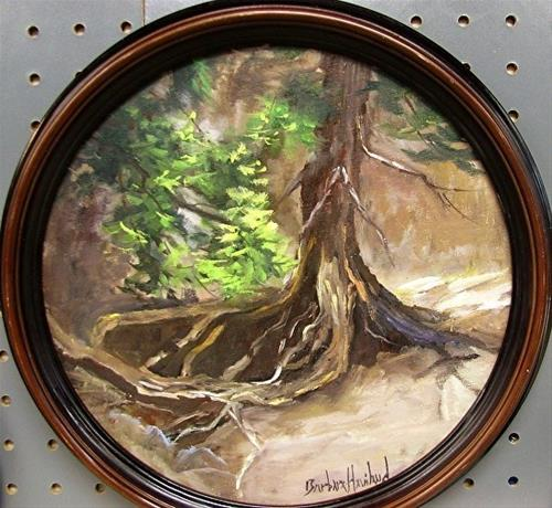"""Adirondack Mountains Pine Tree New York"" original fine art by Barbara Haviland"