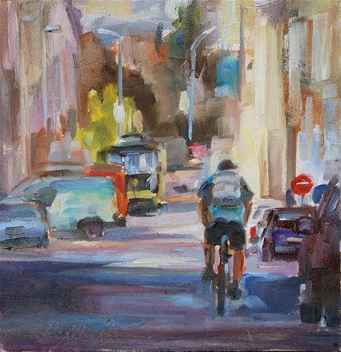 """I Want to Ride My Bicycle."" original fine art by Carol DeMumbrum"