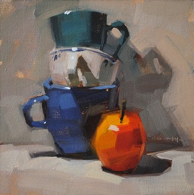 """Apple Stack"" original fine art by Carol Marine"