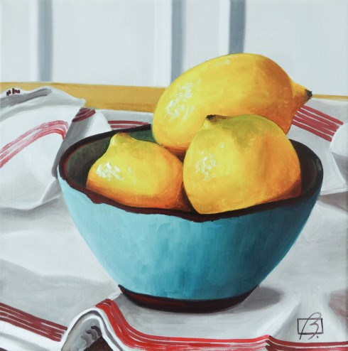 """When life gives you lemons"" original fine art by Andre Beaulieu"