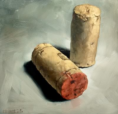 """Two Corks"" original fine art by Michael Naples"