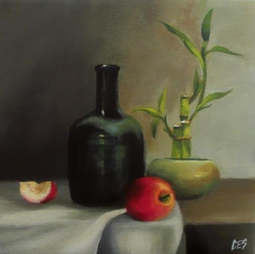 """Lucky Bamboo Still Life"" original fine art by ~ces~ Christine E. S. Code"