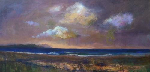 """Beach Scene Oil Seascape Paintings by Arizona Artist Amy Whitehouse"" original fine art by Amy Whitehouse"