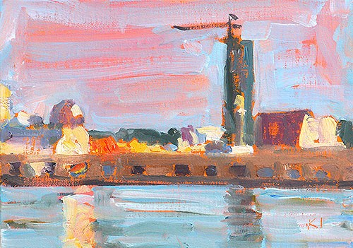 """10th Avenue Cargo Terminal"" original fine art by Kevin Inman"