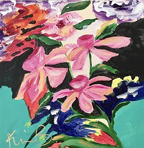 """Pink Orchids"" original fine art by Kimberly Balentine"